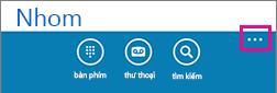 Gõ nhẹ vào dấu ba chấm ở cuối màn hình để hiển thị menu thiết đặt khác