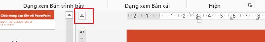 Bạn có thể chuyển đổi giữa các hướng khác nhau của điểm dừng tab.