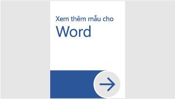 Xem thêm mẫu cho Word