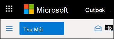 Giao diện của dải băng trong Outlook trên web.