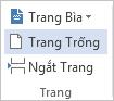 Trên tab CHÈN, bấm Trang Trống.