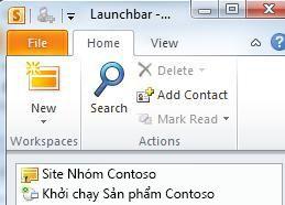 Một SharePoint workspace được đánh dấu bằng một biểu tượng lỗi đồng bộ hóa