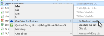 Xem một tệp trong một thư mục đã đồng bộ trong một trình duyệt web