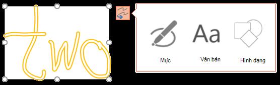 Chuyển đổi chữ viết tay của bạn hiển thị loại nào của đối tượng này có thể tìm cách chuyển đổi đối tượng đã chọn vào.