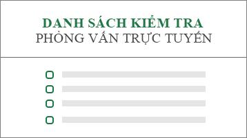 Hình ảnh khái niệm về danh sách kiểm tra đơn xin việc