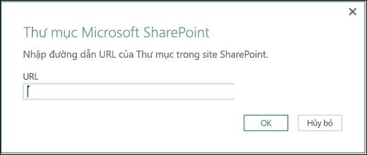 Hộp thoại trình kết nối Thư mục SharePoint trong Power BI của Excel