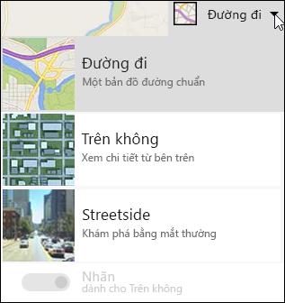 Kiểu bản đồ phần web bản đồ Bing