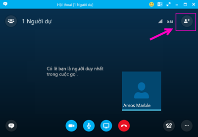 Quay số ra với Skype for Business.