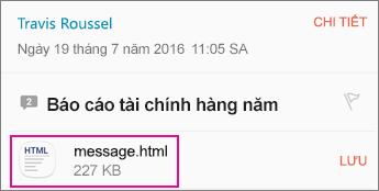 Trình xem OME với ứng dụng Android Email 1