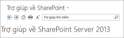 Trợ giúp SharePoint 2013 ngăn đầu trang