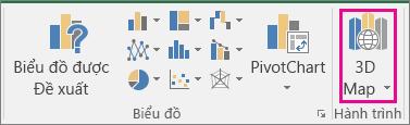 Tùy chọn Bản đồ 3D trong Excel