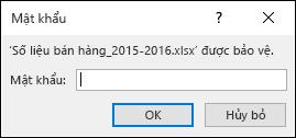 Nhập mật khẩu để mở một tệp được bảo vệ