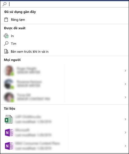 Hộp Tìm kiếm của Microsoft được chọn