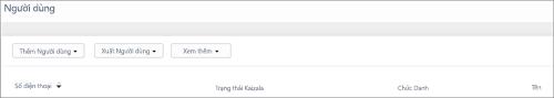 Ảnh chụp màn hình: Thêm số điện thoại của người dùng Kaizala