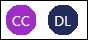 Biểu tượng người đóng góp ban đầu CC và DL