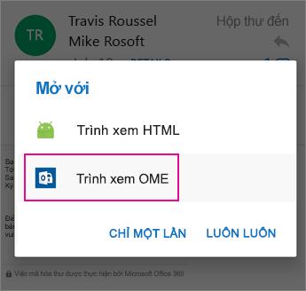 Trình xem OME với Outlook cho Android 2
