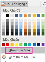 Trên menu tô hình dạng, hãy chọn không tô.