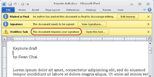 Xác định văn bản trong mục cần được xem xét