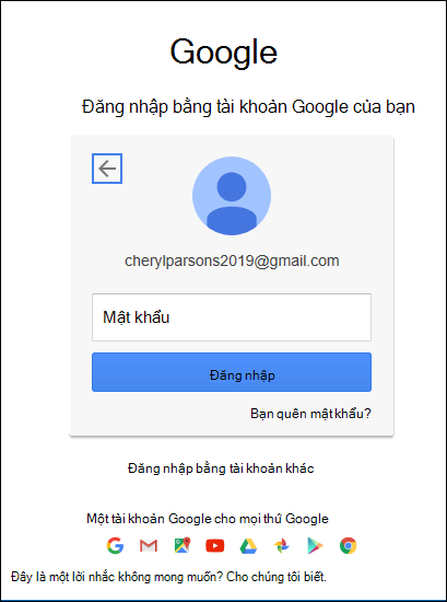 Nhập mật khẩu Gmail của bạn.