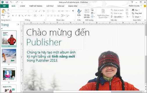 Khám phá Microsoft Publisher