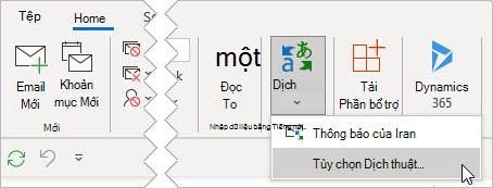 Chọn Dịch tùy chọn