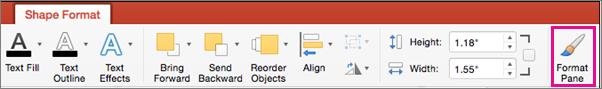 Tab Định dạng Hình trong PowerPoint cho Mac
