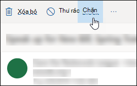 Tùy chọn khối tin nhắn Outlook.com