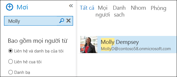 Outlook WebApp Search for people