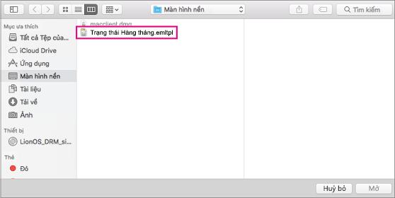 Chọn mẫu email bạn muốn sử dụng