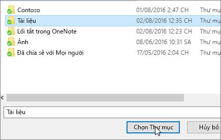 Một ảnh chụp màn hình hiển thị chọn một hộp thoại đích trong menu thuộc tính tài liệu.