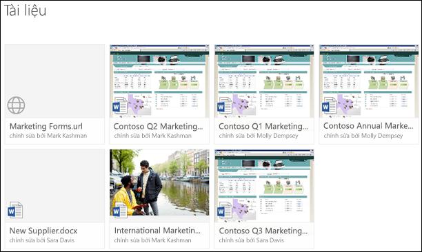 Thêm một nối kết vào thư viện tài liệu trong Office 365