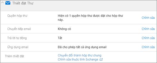 Ảnh chụp màn hình: Chuyển đổi hộp thư người dùng hộp thư chung