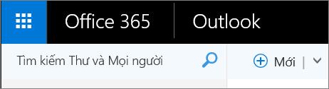Đây là giao diện của dải băng Outlook web.