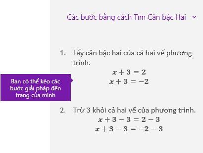 Giải pháp bước hướng dẫn trong ngăn tác vụ toán học