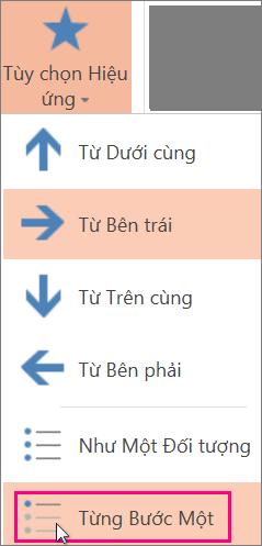 Tạo hiệu ứng hoạt hình theo đoạn văn