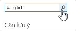 Tìm một ứng dụng trường với đã nhập trong bảng tính và nút tìm kiếm được tô sáng