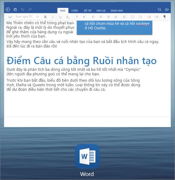 Chuyển ứng dụng trên iPad