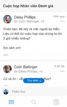 Trải nghiệm cuộc hội thoại mới trong Outlook for iOS