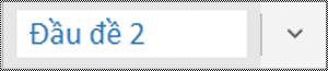 Menu kiểu trong ứng dụng OneNote for Windows 10
