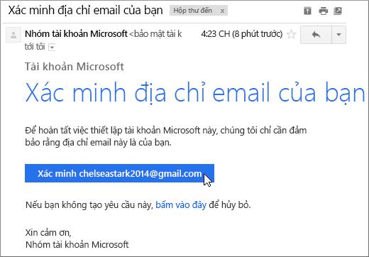 Xác minh địa chỉ email của bạn