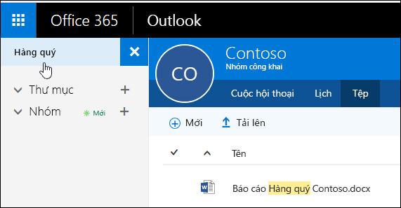 Sử dụng hộp tìm kiếm ở góc trên cùng bên trái của cửa sổ để tìm kiếm các tệp của bạn theo từ khóa