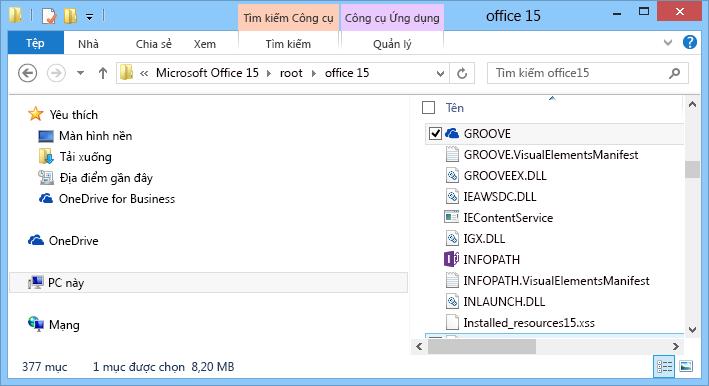 Tìm kiếm Groove.exe trong Windows