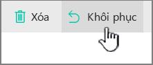 SharePoint Online khôi phục nút được tô sáng