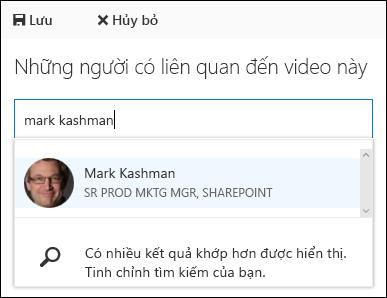 Mọi người kết hợp Office 365 Video