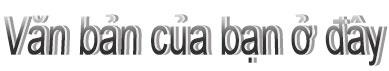 WordArt được định dạng bình thường trong Publisher 2010