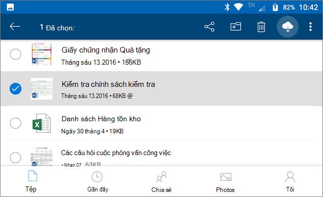 Lưu giữ trực tuyến trong OneDrive