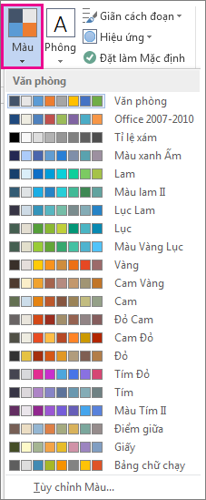 Bộ sưu tập màu chủ đề