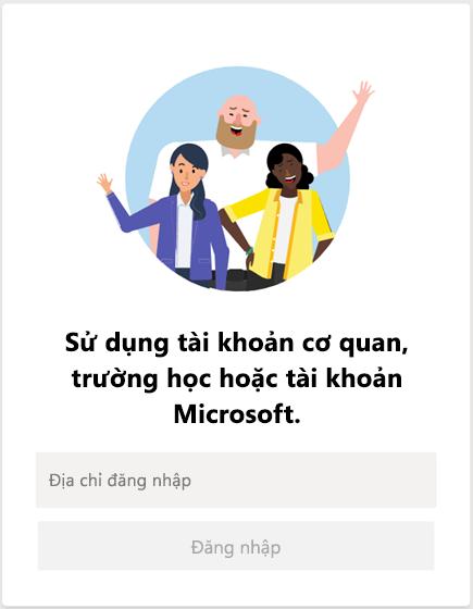 Đăng nhập vào Microsoft Teams