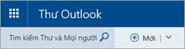 Thanh menu Thư Outlook