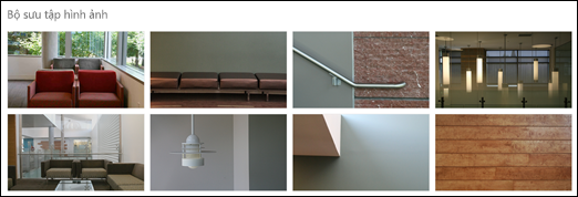 Phần web bộ sưu tập ảnh trong SharePoint
